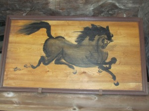 Painting of Horse at Senjokaku Shrine