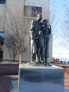 Slavery Monument on Riverfront in Savannah, GA